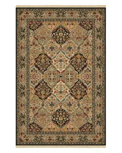 Empress Kirman Rug Black