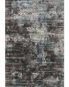 Kingston KT-02 Rug Charcoal/Blue
