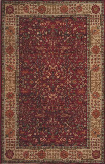 Emperors Hunt Rug Red