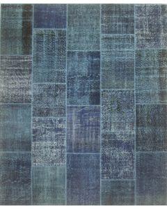 Patchwork Vintage Rug Mazzarine Blue