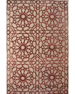 Cathedral Windows Rug Red