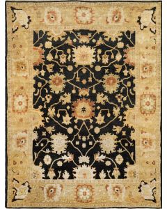 Oushak OSH115D Rug Black Light Gold
