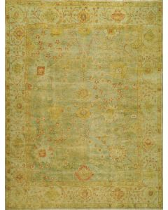 Oushak OSH117B Rug Dark Green Light Green