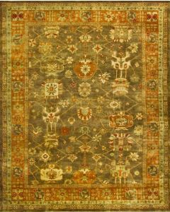 Oushak OSH144A Rug Brown Rust